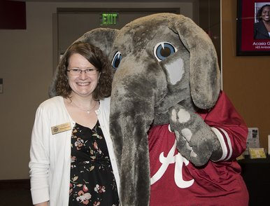 Dr. Melissa Wilmarth with Big AL